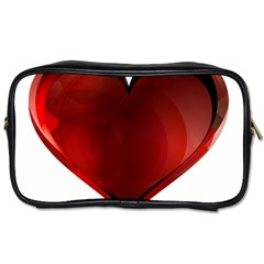 Heart Gradient Abstract Toiletries Bags 2 Side