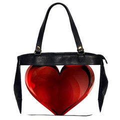 Heart Gradient Abstract Office Handbags (2 Sides)