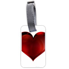 Heart Gradient Abstract Luggage Tags (one Side)