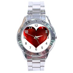 Heart Gradient Abstract Stainless Steel Analogue Watch