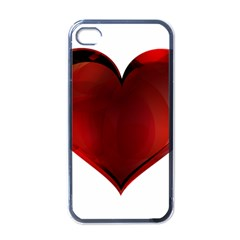 Heart Gradient Abstract Apple Iphone 4 Case (black)