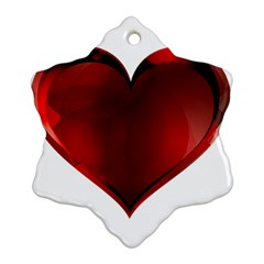 Heart Gradient Abstract Ornament (snowflake)