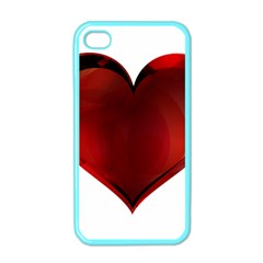 Heart Gradient Abstract Apple Iphone 4 Case (color)