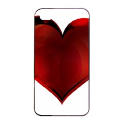 Heart Gradient Abstract Apple Iphone 4/4s Seamless Case (black)