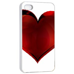Heart Gradient Abstract Apple Iphone 4/4s Seamless Case (white)