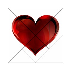 Heart Gradient Abstract Acrylic Tangram Puzzle (6  X 6 )