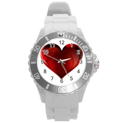 Heart Gradient Abstract Round Plastic Sport Watch (l)