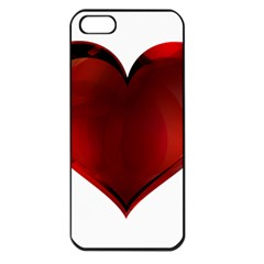Heart Gradient Abstract Apple Iphone 5 Seamless Case (black)