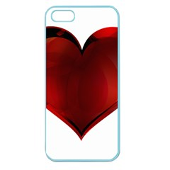 Heart Gradient Abstract Apple Seamless Iphone 5 Case (color)