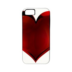 Heart Gradient Abstract Apple Iphone 5 Classic Hardshell Case (pc+silicone)