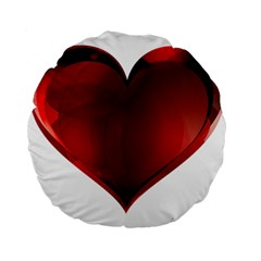 Heart Gradient Abstract Standard 15  Premium Round Cushions
