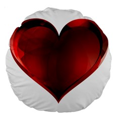 Heart Gradient Abstract Large 18  Premium Round Cushions
