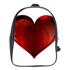 Heart Gradient Abstract School Bags (xl)