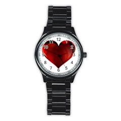 Heart Gradient Abstract Stainless Steel Round Watch