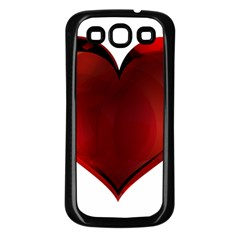 Heart Gradient Abstract Samsung Galaxy S3 Back Case (black)