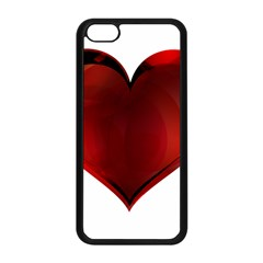 Heart Gradient Abstract Apple Iphone 5c Seamless Case (black)