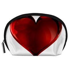 Heart Gradient Abstract Accessory Pouches (large)