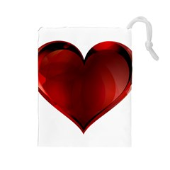 Heart Gradient Abstract Drawstring Pouches (large)