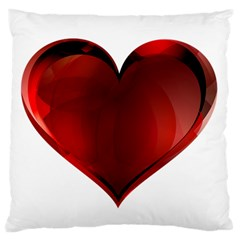 Heart Gradient Abstract Large Flano Cushion Case (one Side)