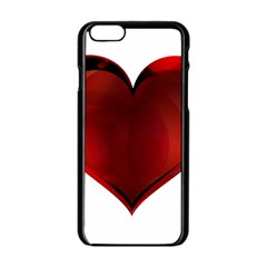 Heart Gradient Abstract Apple Iphone 6/6s Black Enamel Case