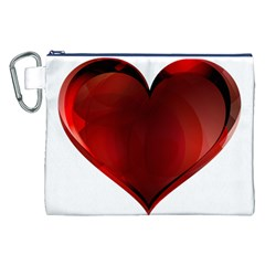 Heart Gradient Abstract Canvas Cosmetic Bag (xxl)