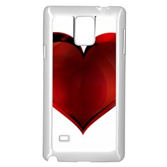 Heart Gradient Abstract Samsung Galaxy Note 4 Case (white)