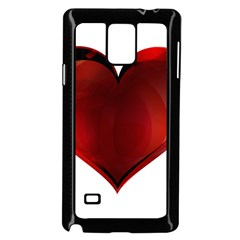 Heart Gradient Abstract Samsung Galaxy Note 4 Case (black)