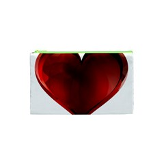 Heart Gradient Abstract Cosmetic Bag (XS)