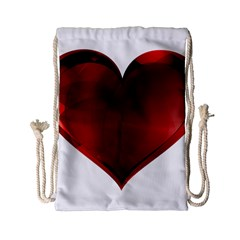 Heart Gradient Abstract Drawstring Bag (small)