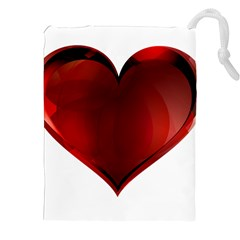 Heart Gradient Abstract Drawstring Pouches (XXL)