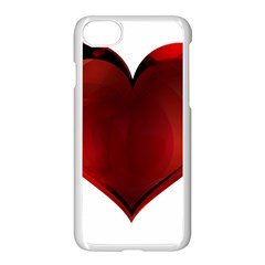 Heart Gradient Abstract Apple Iphone 7 Seamless Case (white)