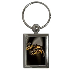 Fractal Mathematics Abstract Key Chains (rectangle)