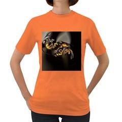 Fractal Mathematics Abstract Women s Dark T Shirt