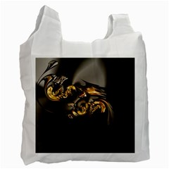 Fractal Mathematics Abstract Recycle Bag (one Side)