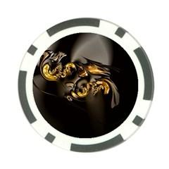 Fractal Mathematics Abstract Poker Chip Card Guard (10 Pack)