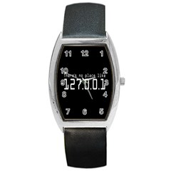 There s No Place Like Number Sign Barrel Style Metal Watch