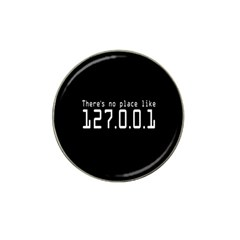 There s No Place Like Number Sign Hat Clip Ball Marker