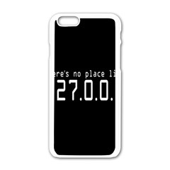 There s No Place Like Number Sign Apple iPhone 6/6S White Enamel Case