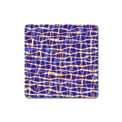 Surface Pattern Net Chevron Brown Blue Plaid Square Magnet
