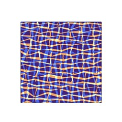 Surface Pattern Net Chevron Brown Blue Plaid Satin Bandana Scarf