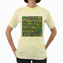 Surface Pattern Green Women s Yellow T Shirt