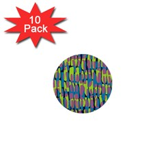 Surface Pattern Green 1  Mini Buttons (10 Pack)
