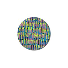 Surface Pattern Green Golf Ball Marker