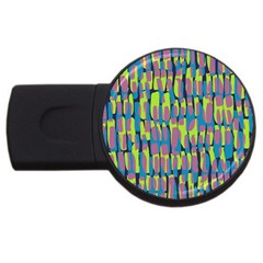 Surface Pattern Green Usb Flash Drive Round (2 Gb)