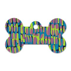 Surface Pattern Green Dog Tag Bone (One Side)