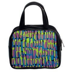 Surface Pattern Green Classic Handbags (2 Sides)