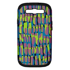 Surface Pattern Green Samsung Galaxy S Iii Hardshell Case (pc+silicone)