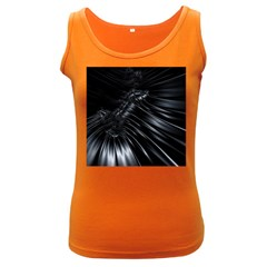 Fractal Mathematics Abstract Women s Dark Tank Top