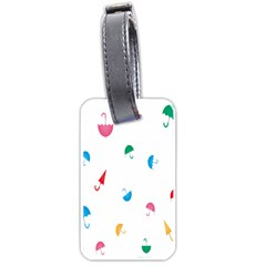 Umbrella Green Orange Red Blue Pink Water Rain Luggage Tags (One Side)