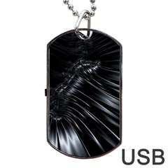 Fractal Mathematics Abstract Dog Tag Usb Flash (one Side)
